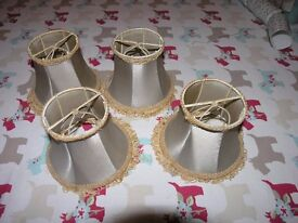 4 Small Electric lamp Shades. Weymouth Free Delivery