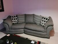 Grey 3 seater sofa and 1 seater armchair