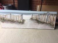 Seaside Beach Canvas 3D