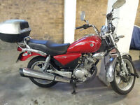 Yamaha125custom2014,like new,very low mileage,rarely used,free box,helmet,chain oil sprays,£1495 ONO