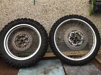 yamaha xt 600 pair of wheels and tyres