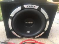 Car Subwoofer and amp