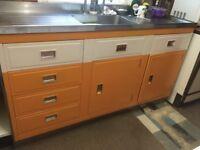Retro Vintage 1950's Paul Millersdale double drainer kitchen sink