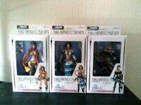 Final Fantasy X-2 Set Of 3 Play Arts Figures Yuna , Rikku & Paine Boxed