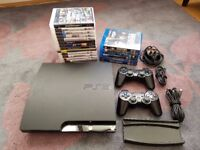 120GB PS3 Slim   15 Games   6 Blue-rays   2 Wireless Controllers