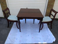 Folding Table Small with Chairs