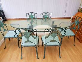 Oval table and 6 chairs