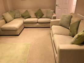RH Chaise L shaped sofa and 2 seater sofa