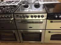 Silver stainless steel 60cm electric cooker