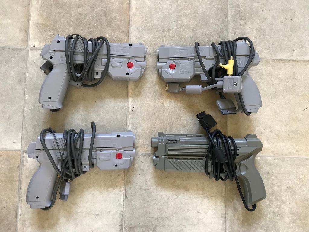 PlayStation Namco g-con guns x 4
