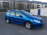 Peugeot 307 Automatic 5 Door Estate 7 Seater with Service History