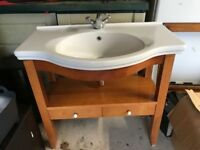 Swedish Bathroom Basin Sink With Stand and Taps