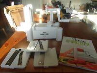 salter spiralizer and recipe book