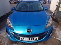 """MAZDA 3 SPORT 60 plate FACELIFT 2010 MODEL only 88k PEARL BLUE Manual 18""""unmarked AlloysHEATED seats"""