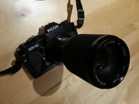 35MM SLR Ricoh KR10, 3 x lenses, soft case, instructions full working order great condition.