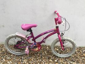 "Girls Bike 16"" inch age 5 - 7"