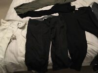 Maternity clothes bundle mainly size 14 some 16 including tops, trousers, shoes and dresses
