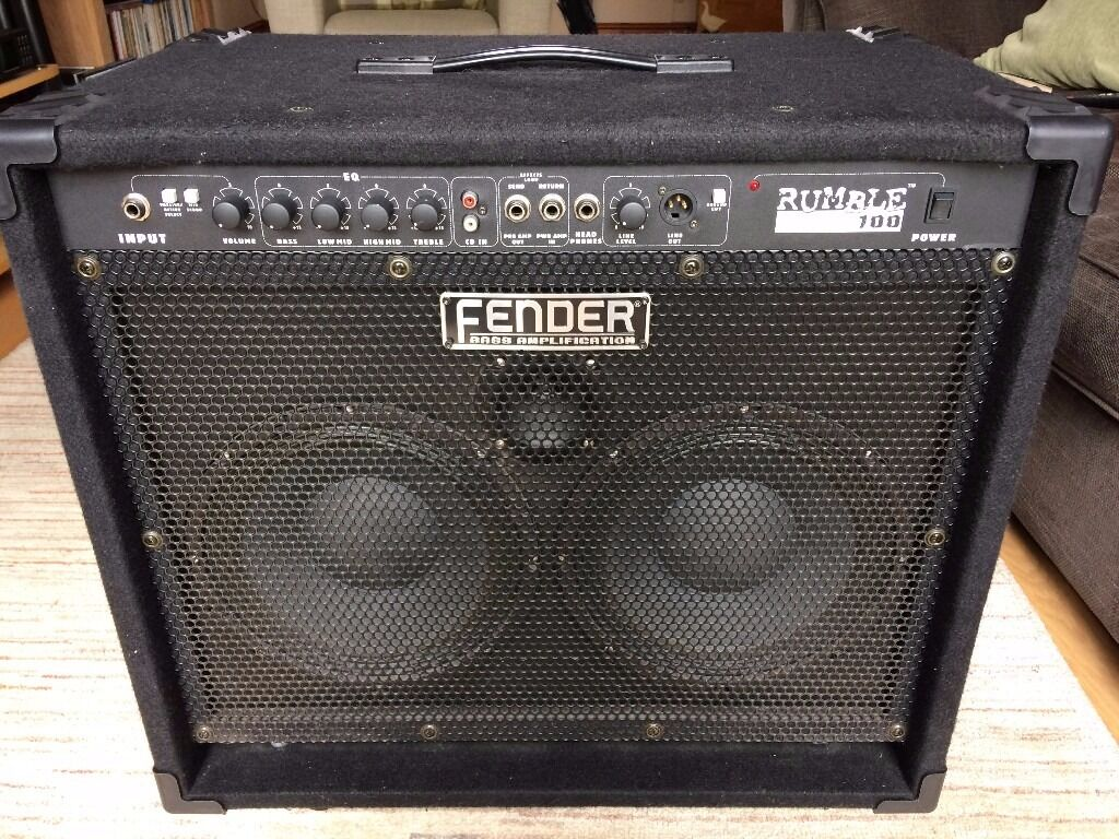 fender rumble 100 210 combo bass amp in norwich norfolk gumtree. Black Bedroom Furniture Sets. Home Design Ideas