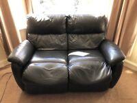 2 reclining sofas