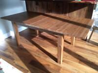 IKEA extendable pine dining table 6-8 people