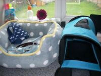 Small Dog/Puppy Bed, Lead, Collar and Carry Case
