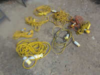 110v yellow extension leads