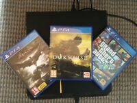 PS4 (1TB) with original box, wiring and controller, including 3 games