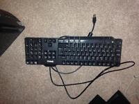 Dell QWERTY Black Computer PC Keyboard Equipment USB