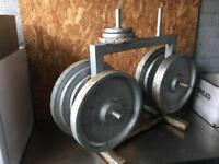 Over 150kg Steel Weight Plates on stand £150 Wigan
