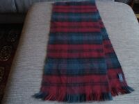 Gents or ladies green and red scarf, similar to Lindsay tartan