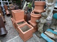 Various Terracota Colour Chimney Pot Planters - Loads Available
