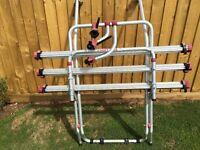 Vw t4 Fiamma bike rack tailgate model extra 3rd bike rails added