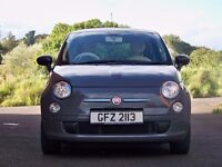 Fiat 500 Pop 1.2 Carrera Grey, very good condition, leatherette seat covers