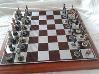 American Civil War - Union verses Confederate Chess Set