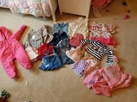 Bundle of baby girls clothes 12 - 18 months