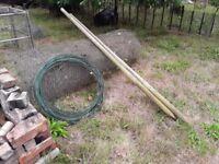Chicken wire netting & posts