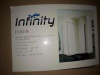 Unused Infinity Curved Walk in Shower Enclosure and try