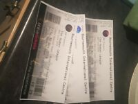 3 x HUMAN LEAGUE TICKETS-BIC 30/11/18- FACE VALUE