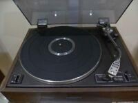 pioneer PL-12D vintage belt drive Turntable Record Player + goldring Cartridge + Stylus