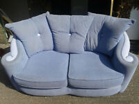 light Blue 2 Seater Sofa/Couch For Sale in Good Condition 50ovno Can arrange delivery