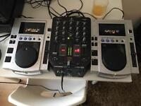 Pioneer cdj 100s and Behringer VMX200USB
