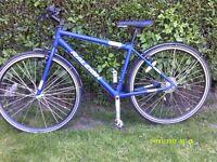 mens raleigh hybrid mountain bike like new