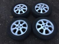 """For sale - Vauxhall Corsa / Astra 15"""" alloy wheels - excellent tyres"""
