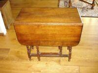 Vintage Oak Drop Leaf Table