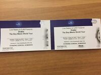 2 x Drake Tickets 02 London Sunday 5th February General Admission