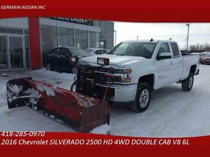 2016 Chevrolet SILVERADO 2500 HD 4WD DOUBLE CAB ****CHASSE NEIGE