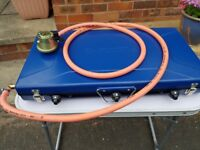 Campingaz Folding Elite Double Hob/Grill With Extra Long Hose/Regulator Fitted.