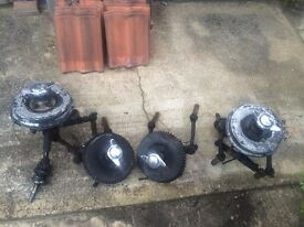 TVR GRANTURA FRONT AND BACK HUBS WITH SUSPENSION ASSEMBLYS