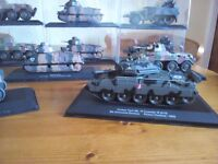 De Agostini Collectable tanks and armoured vehicles. 1:43 scale