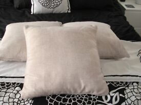 NEXT THREE MATCHING CUSHIONS WITH ZIP COVERS